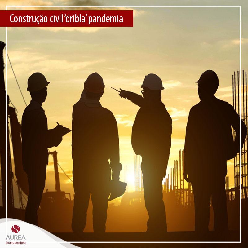 Construção civil 'dribla' pandemia com liderança nas contratações e aumento das vendas.